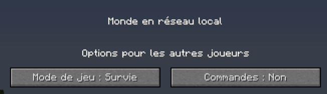 minecraft ouvrir au LAN